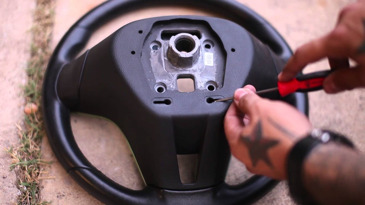 How To Remove Steering Wheel Trim On A Chevy Cruze Youtube