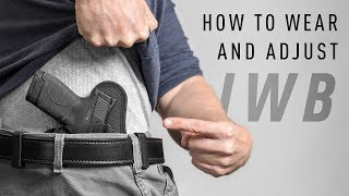 How To Wear And Conceal An IWB Holster by Alien Gear Holsters