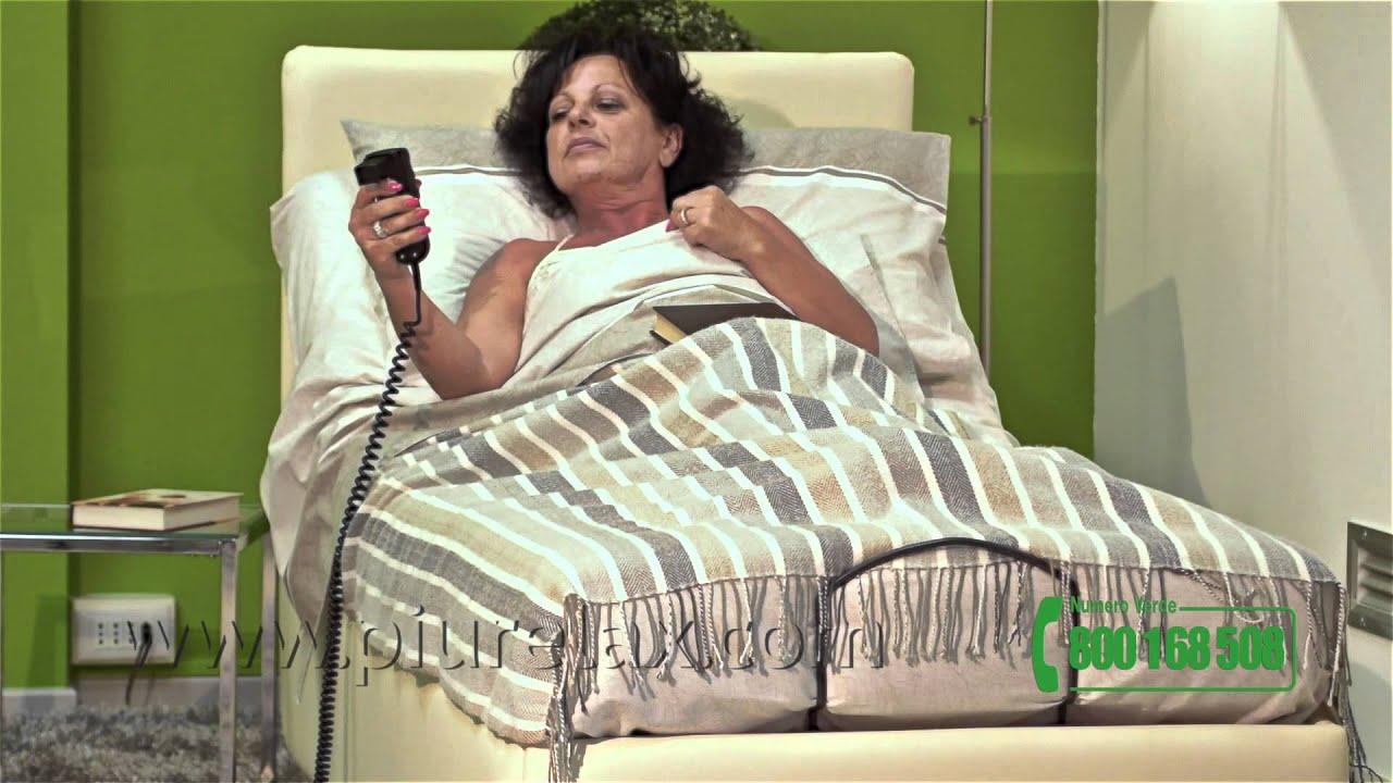 letto imbottito con rete motorizzata materasso ortopedico