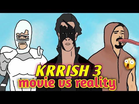 KRRISH 3 MOVIE VS REALITY   HRITHIK ROSHAN l 2D animation    NikoLandNB  