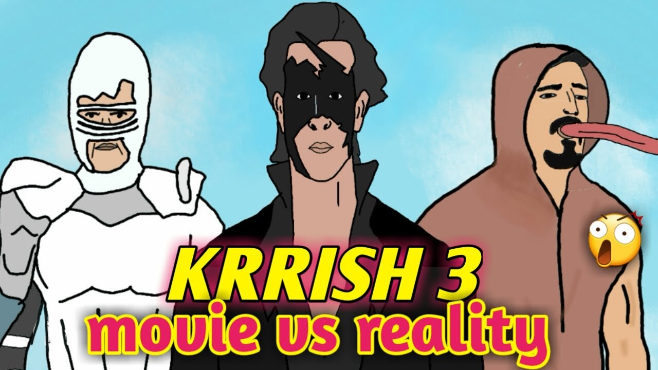 Download KRRISH 3 MOVIE VS REALITY   HRITHIK ROSHAN l 2D animation    NikoLandNB