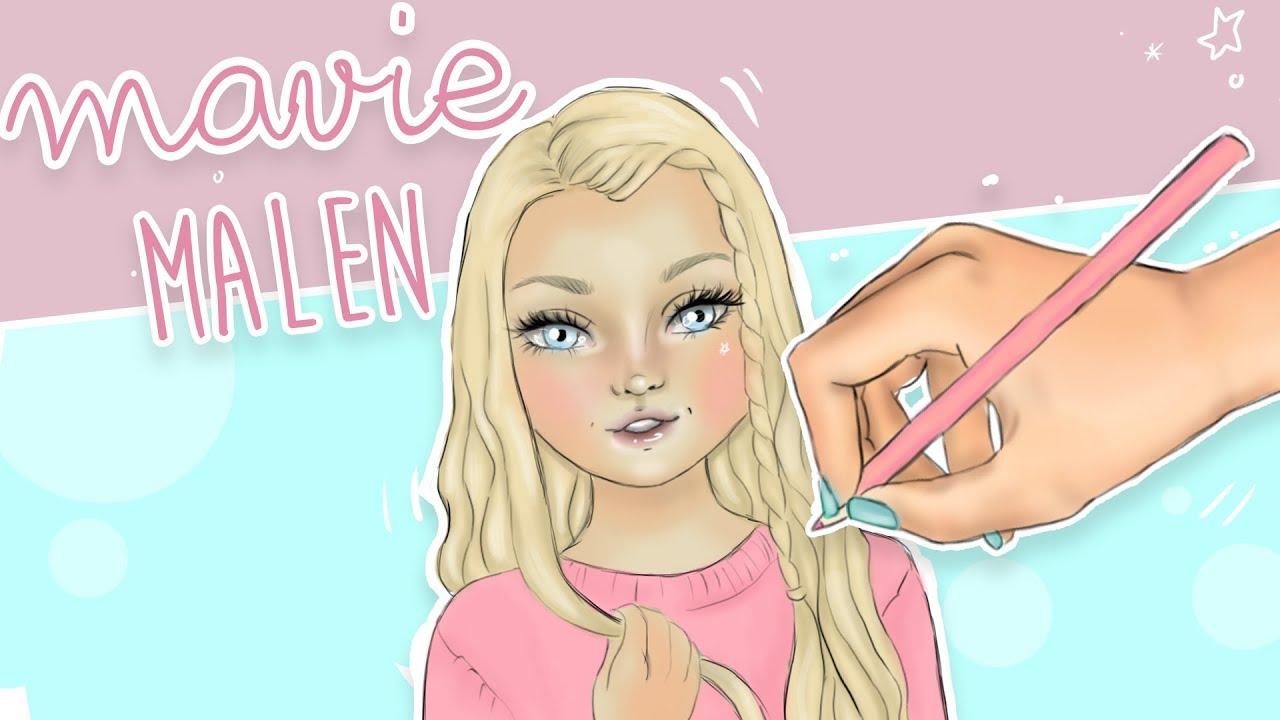 How to draw Mavie Noelle  TOPModel malen  Foxy Draws