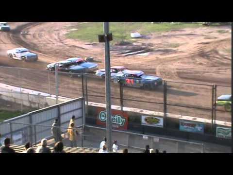 IMCA Stockcar Heat 1 Seymour Speedway 8/16/15