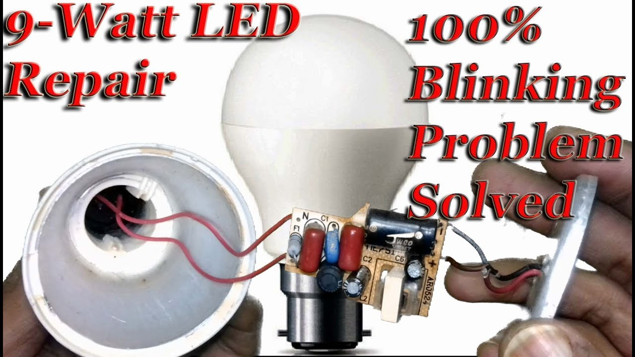 LED BULB REPAIR- Blinking Problem Solved