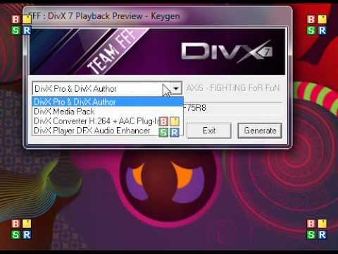 DivX 7 PRO serial keys, activate