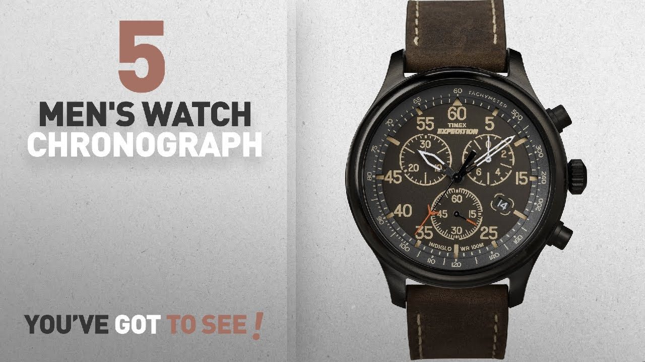 Top 10 Mens Watch Chronograph 2018 Timex T49905 Expedition Jam Tangan Fossil Fs4812 Grant Black Dial Leather Men New Clipadvise