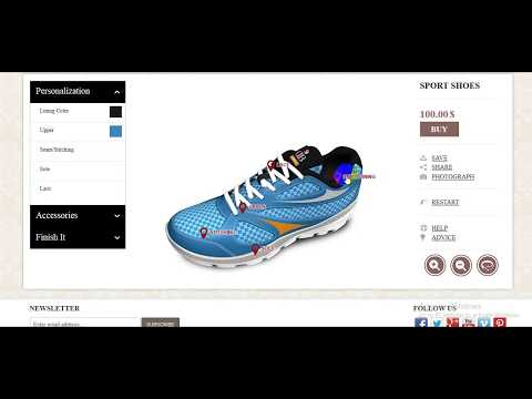 Online Sports Shoe Design Tool