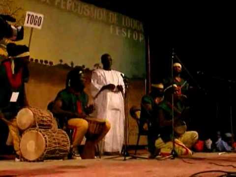 Togo drum performance Louga Senegal