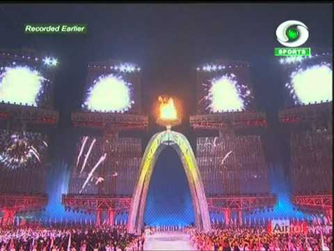 Opening Ceremony at the 16th Asian Games 2010 at the Haixinsha Island in Guangzhou, China