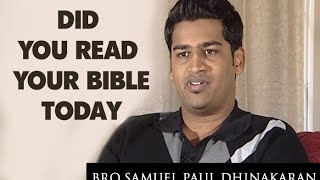 Did You Read Your Bible Today? (Tamil) | Samuel Dhinakaran