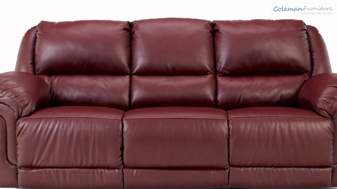 Magician DuraBlend Garnet Living Room Collection from Signature