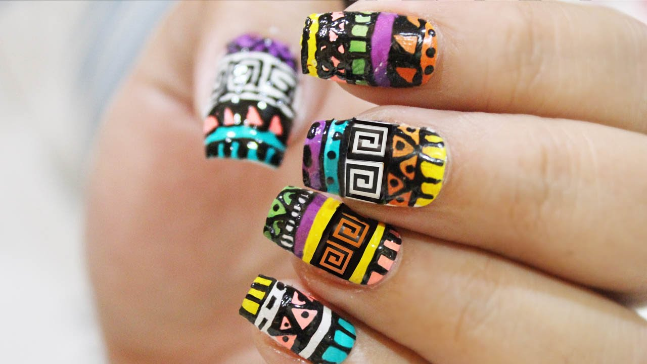 - Aztec Nailart : Quick & Easy ! - YouTube