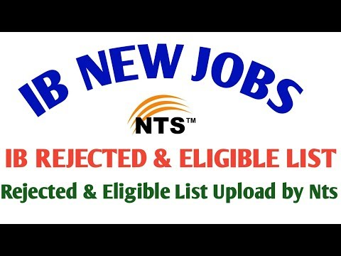 Repeat IB REJECTED AND ELIGIBLE CANDIDATES LIST UPLOADED || IB 1500
