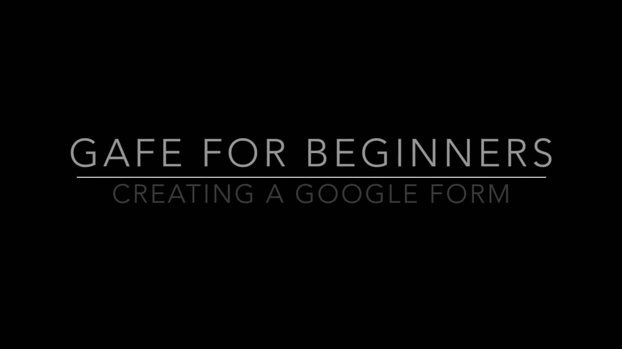 Gafe For Beginners How To Create A Google Form On An Ipad Youtube