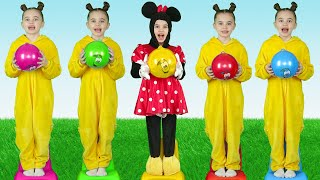 Five little babies jumping on the bed | 동요와 아이 노래 | 어린이 교육 | Polina Fun
