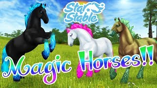 Magic Horses Return!! 🌈 Showing Off All My Magic Horses!! 🐴🌟 Star Stable Online