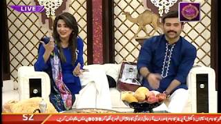 """Faysal Qureshi,Fiza Ali, Imran Nazir & Aadi playing """"Rapid Fire"""""""