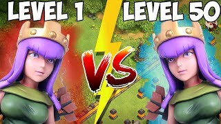 QUEEN - Level 1 vs Level 50! ☆ Clash of Clans