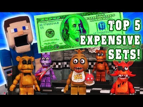 Five Nights at Freddy's TOP 5 Expensive Mcfarlane Toys Construction Fnaf Sets!