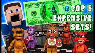 Five Nights at Freddys TOP 5 Expensive Mcfarlane Toys Construction Fnaf Sets