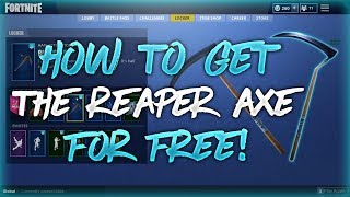 How To Get The Reaper Axe For Free In Fortnite! (Works in Game!)
