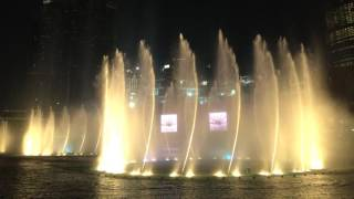 Dubai Mall - Dancing Fountain (Michael Jackson) - HD 4K
