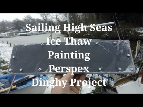 Boat Painting, Perspex & Dinghy Project - Vlog Ep 84