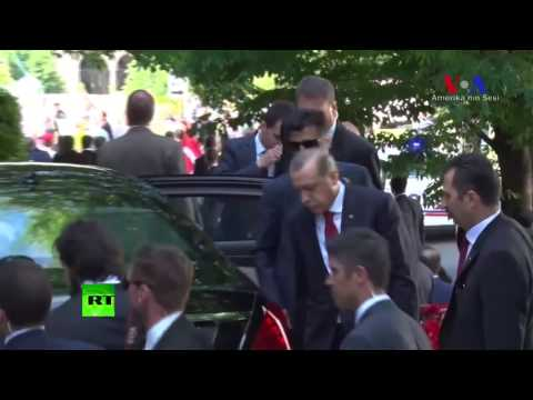 Keep your distance: Erdogan observes clashes outside Turkish residence in Washington