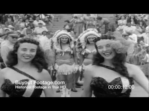 HD Stock Footage Twins Convention Sees Double 1954 Newsreel