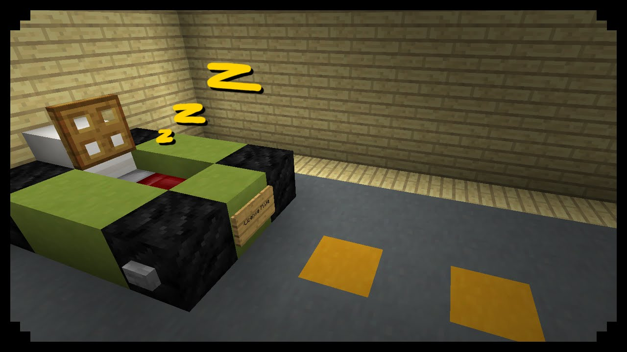 Minecraft how to make a car bed youtube for How to create a motor