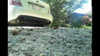 Subaru Legacy GT Turbo Custom Exhaust Cackling and Rumbling