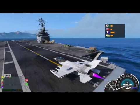 GTA 5 – Cuộc chiến máy bay phản lực trên bầu trời và tham quan con tàu sân bay | ND Gaming