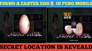 Founded a Easter egg in pubg mobile ||TOP SECRET🤐🤫|| HIDDEN TREASURE INSIDE IT|| BY THE LEGEND