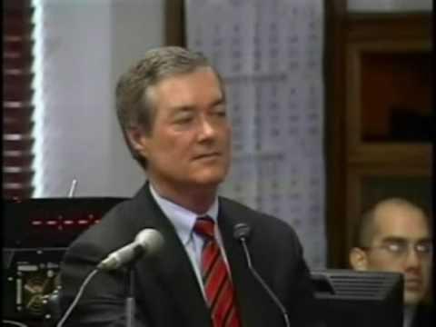 Former Colorado Governor Bill Owens testifying at Ward Churchill's trial