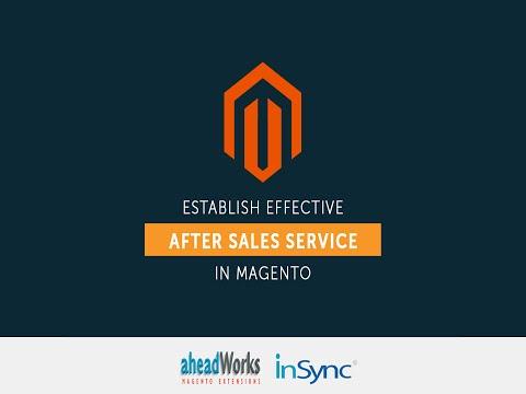 Webinar on Establishing Effective After Sales Service through Magento