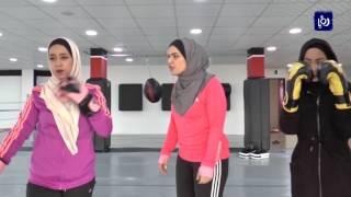 أول فتاة مدربة للفنون القتالية في اربد