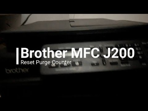 Mereset Printer Brother MFC J200 Purge Counter