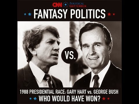 Alternate History 1988- George HW Bush vs Gary Hart