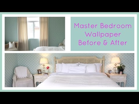 Master Bedroom Wallpaper Before & After Jennifer L. Scott