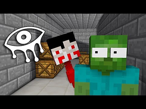 Monster School : EYES OF HORROR GAME CHALLENGE - Minecraft Animation
