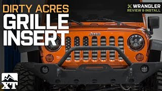 Jeep Wrangler JK Dirty Acres Grille Insert - American Tactical (2007-2018) Review & Install