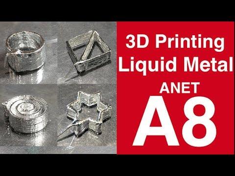 3D Printing Liquid Metal (Galinstan) with Anet A8 3D Printer