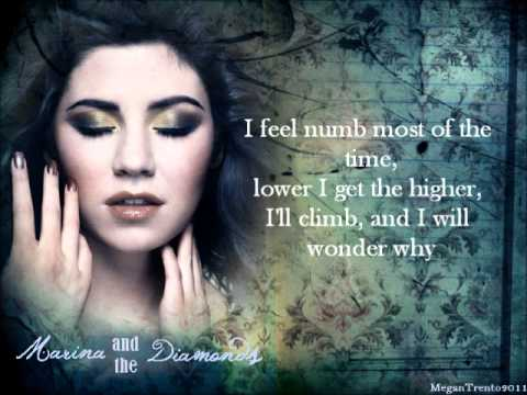 Marina and the Diamonds ~ Numb (w/lyrics)