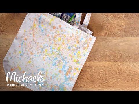 Splatter Paint A Canvas Bag | Michaels