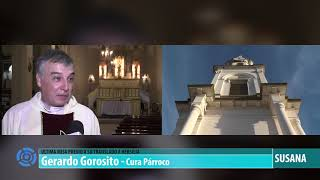 nota con el cura párroco Gerardo Gorosito