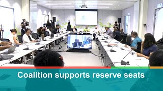 Coalition supports reserve seats