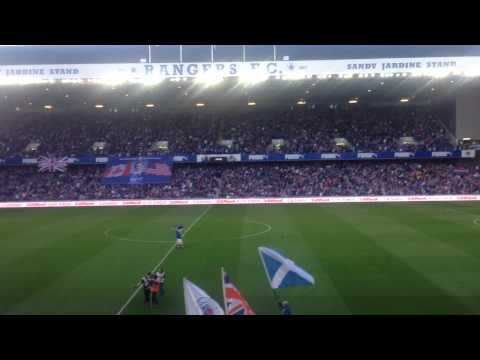 Blue sea of IBROX 51000 sell out Glasgow Rangers 3 St mirren 1