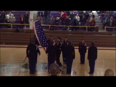 Waukegan High School Jrotc Color guard 12/8/17