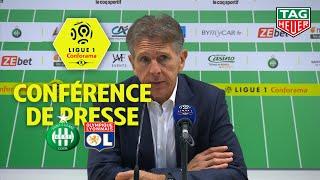 Conférence de presse AS Saint-Etienne - Olympique Lyonnais (1-0) / 2019-20
