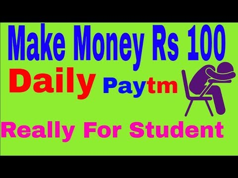 Online Job For Student Earn Rs 100 Daily Paytm Cash Earn Paytm Doing Some Work In Hindi